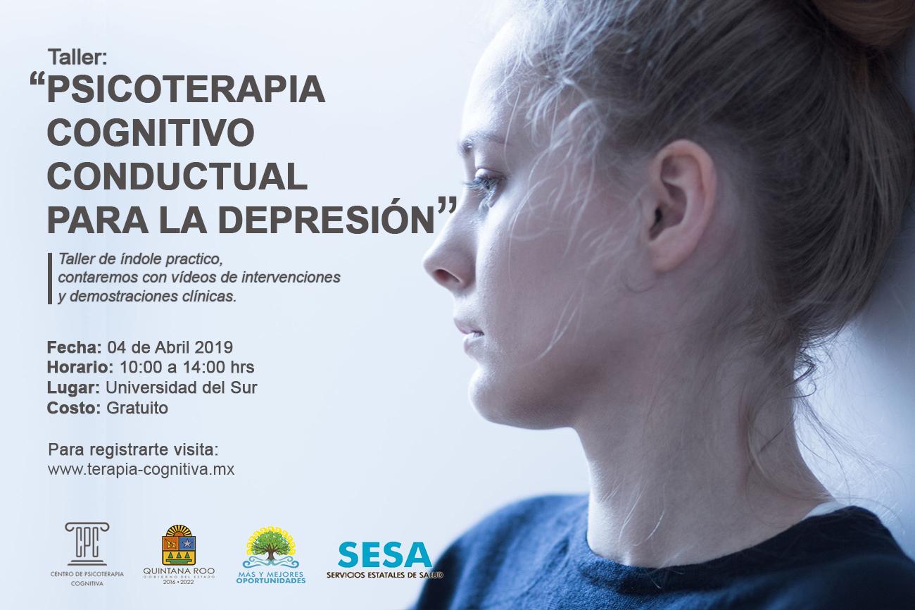 Taller psicoterapia cognitivo conductual para la depresion